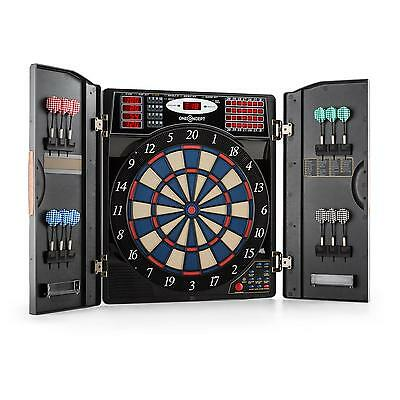 Electronic Dartboard Games Toy Cabinet Folding Computer Led Display 12 Darts Tip