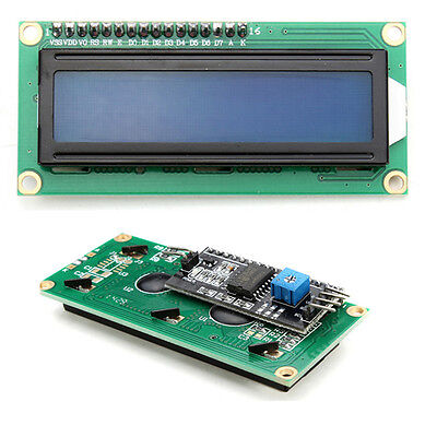 1PC IIC / I2C 1602 Blue Backlight LCD Display Module For Arduino Durable