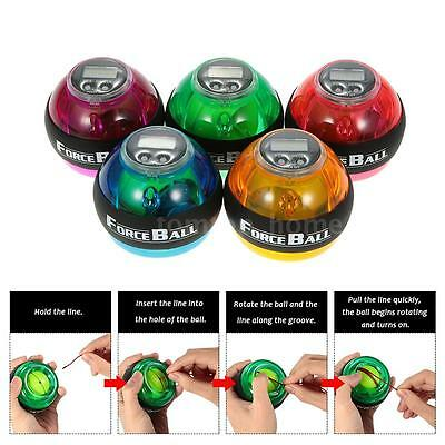 Gyroscope LED Wrist Power Force Grip Ball Arm Muscle Exercise Speed Meter NEW