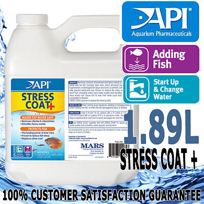 API Stress Coat + Plus Aloe Aqua Aquarium Fish Tank Tap Water Conditioner 1.89L