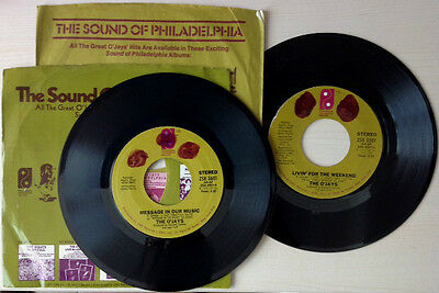 "THE O'JAYS / LIVIN' FOR THE WEEKEND + MESSAGE IN OUR MUSIC - 2x7"" - OCCASIONE !!"