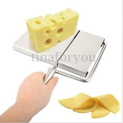 Stainless Steel Cheese Slicer Butter Board Wire Cutting Kitchen Baking Tool