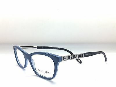 New Authentic Tiffany & Co. TF 2102 8189 Black/Blue 52mm Eyeglasses Italy RX