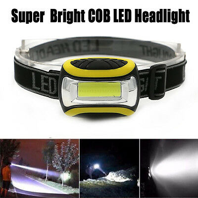 Super Bright Headlight COB LED 3 Modes Head Lamp Taschenlampe Outdoor Camping UK
