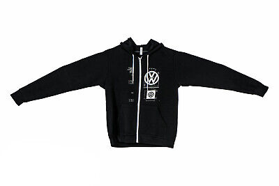 NEW Genuine VW Volkswagen Driver Gear XL VW Logo Specifications Black Hoodie
