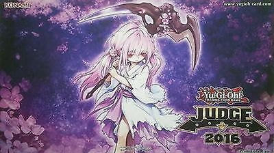 2016 - Yu-Gi-Oh Judge Travel Assist Playmat Ghost Reaper & Winter Cherries Rubbe