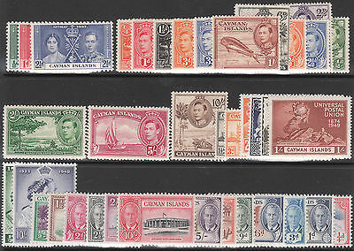Cayman Islands 1937 1938 1943 1948 1950 Mint Gv1 Collection Stamp Sets