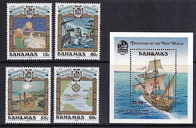 BAHAMAS: Christopher Columbus 500th Anniversary - 4v & M/S (MNH)