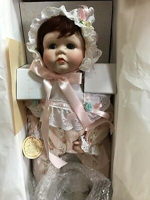 """VTG Duck House Real Baby 20"""" Pocelain Doll #DH062P Signed by Holly Hunt"""