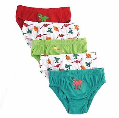 Boys Dinosaur Pattern 5 pack Briefs Underpants