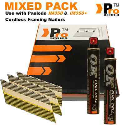 Mixed Pack Framing Nails 2k nails+2Fuel Cell,Paslode im350 im350+ Hitachi