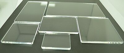Acrylic Stamping Blocks 5mm Thick Set 1 Clear Perspex