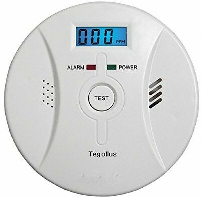 Tegollus Combination Smoke And Carbon Monoxide Detector Alarm With Sound CO