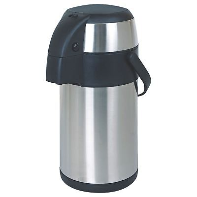 3L Stainless Steel Vacuum Airpot Pump Action Hot & Cold Tea Coffee Jug Flask New