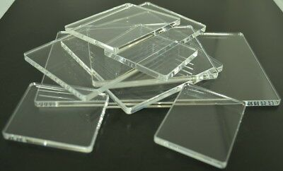 Acrylic Perspex® Blocks Pads For Clear and Unmounted Stamps Various Sizes