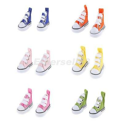 6 Pairs of Canvas Shoes Clothing Accs fit for 1/6 Scale Barbie Blythe Pulip Doll