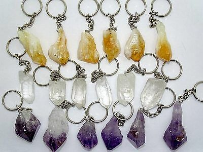 Bulk  Assorted Stone  Point  Keychains- 18 Piece Lot-Compare @ 5.00/pc...