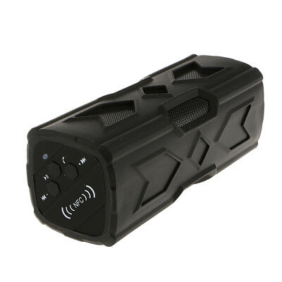 Bluetooth Speaker Wireless Bass Stereo for Cell Phone PC Rechargeable Black