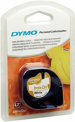 DYMO LETRATAG LABEL IRON WHITE STRIJKEN TAPE RUBAN REPASSAGE BLANC Letra Tag LT