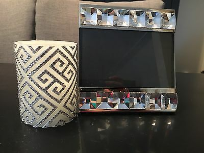 Frame And Candle Set With Swarovski Crystals