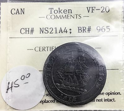 Canada Token BR#965  CH# NS21A4  ICCS VF20 Trade and Navigation 1813