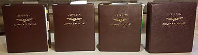 FREE SHIPPING! Jeppesen Airway Manuals, 4 Volumes, Top Grade Cowhide Binders