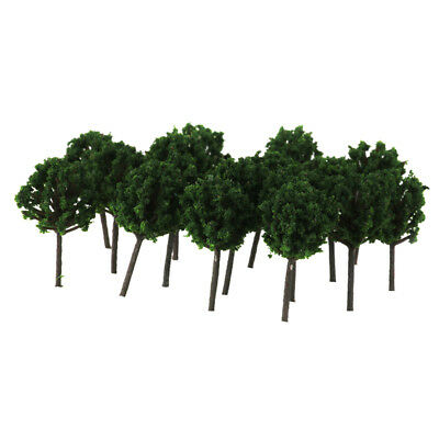 50x Model Trees Layout Train Railroad Diorama Landscape Scenery 1:300 Scale