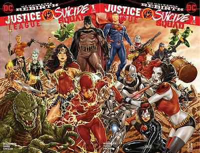 JUSTICE LEAGUE vs SUICIDE SQUAD 1 MIDTOWN BROOKS VARIANT 2 PACK SET COVERS A & B