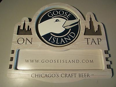 "NEW 24"" x 21.5"" Goose Island Brewing Wooden Chicago's On Tap Beer Craft Sign 312"
