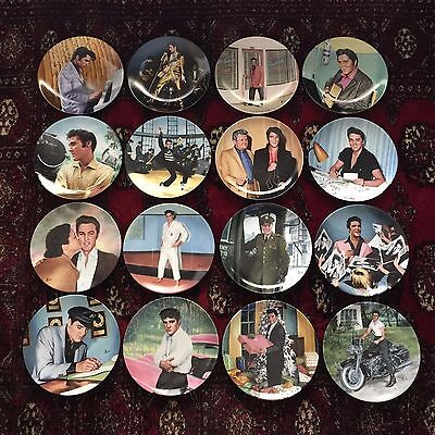 Complete Plate Set 16 Elvis Presley LOOKING AT A LEGEND COA and Original Boxes