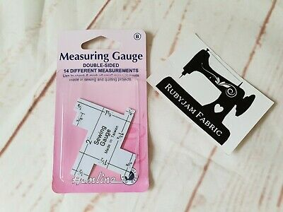 Measuring gauge, quilting sewing gauge, turn perfect hems FREE POST from Sydney