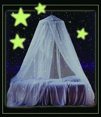 GLOW IN THE DARK BED CANOPY mosquito net new 30 stars!