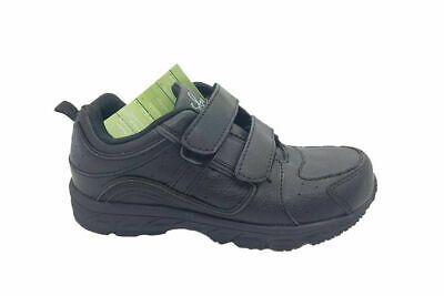 Boys Shoes Grosby Heist Black School Shoe Runners Size 10-3 Sneakers Hook & Loop