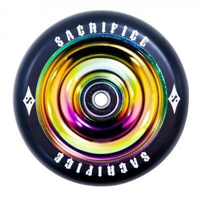 Sacrifice Oil Slick 110mm Alloy Core Scooter Wheel w/bearings - Neo Chrome