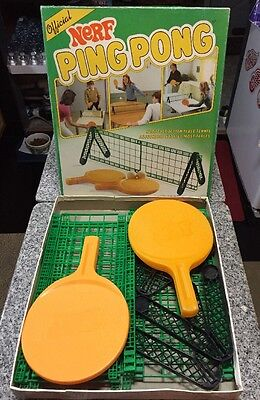 Nerf Ping Pong Table Top Official 1982 Vintage Parker Brothers With Box!