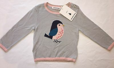 BNWT Country Road Baby Girl Bird Jumper RRP $44.95 Size 00 3-6 Months