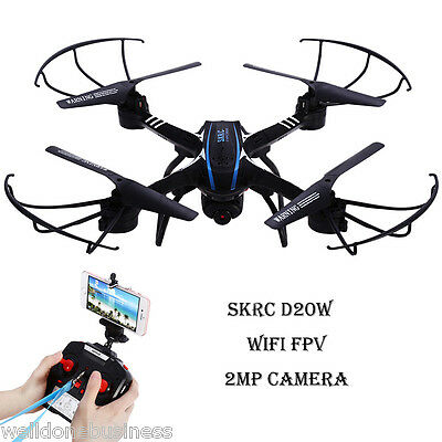 SKRC D20W 2.4GHz 4 Channel 6 Axis Gyro Quadcopter with HD Camera RTF Version