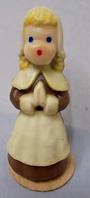 "Pilgrim Lady Candle Thanksgiving Gurley 59 Cents Buffalo N.Y. 2.25"" Tall Vintage"