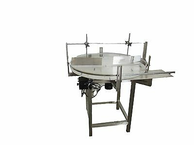 """NEW Stainless Steel 36"""" Diameter -Unscrambler Rotary Table with In Feed Table-"""