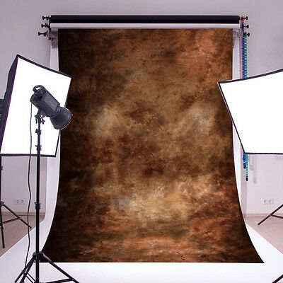 5x7FT Abstract Brown Studio Vinyl Photography Backdrop Prop Photo Background NEW