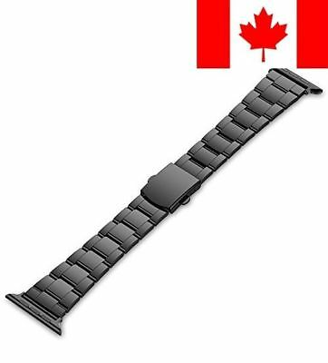 Apple Watch Band, 38mm Stainless Steel Strap Wrist Band Replacement w/ Metal ...