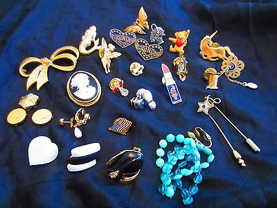 Avon Vintage Pins,Clip Earrings,Stick Pins,Button Covers