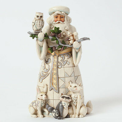 Jim Shore Woodland Santa w/Animals Figurine ~ Nature's Winter Wonders ~ 4040900