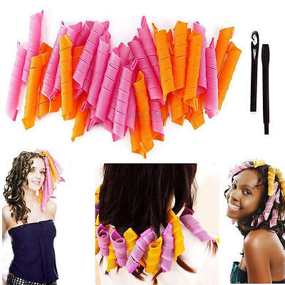 40Pcs 50cm DIY Magic Hair Curlers Curl Formers Spiral Ringlets Leverage Rollers