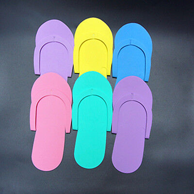 12pairs Disposable Slippers for Salon Flip Flops for Pedicure & Foot Spas