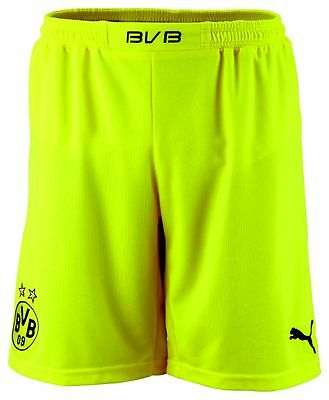 Puma Mens Borussia Dortmund BVB Football Home Shorts 2013/14 Yellow Black