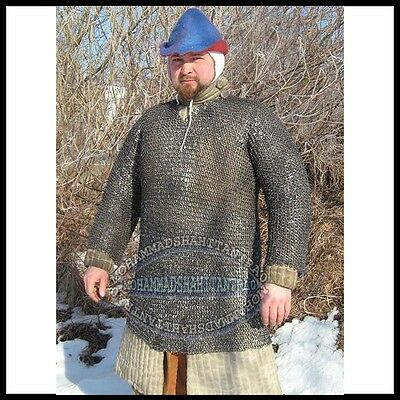 Chain Mail Shirt Round Riveted Ring With Flat Washer Armor Chainmail Haubergeon