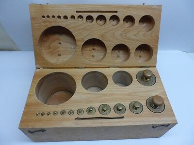 Metric Scale Calibration 13 Piece Brass Weights Set 1g to 1000g