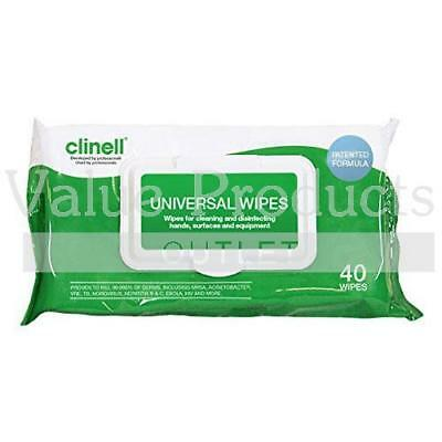 Clinell Universal Sanitising Hand & Surface Disinfectant Wipes or Dispenser