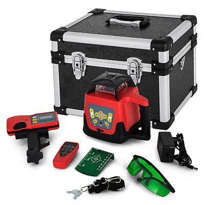 Automatic Green Rotary Laser Level Remote Control Self Rotating 500M Range